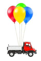 Air balloons and truck