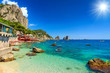 Beautiful beach in Capri island,Italy,Europe - 71206582