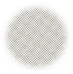 dotted halftone circle