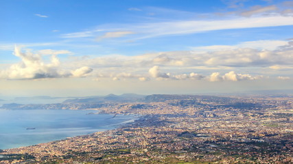 Over Naples. Italy. TimeLapse. 4K