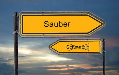 Strassenschild 18 - Sauber