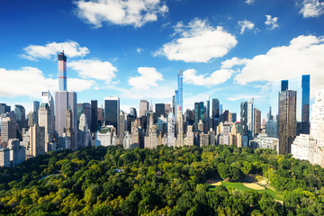 New York City - central park view to manhattan at sunny day