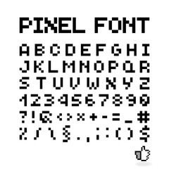 Pixel Font, Isolated Vector Letters, Alphabet