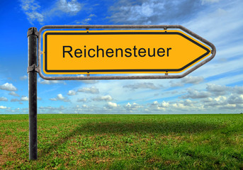 Strassenschild 17 - Reichensteuer