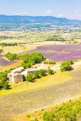 Aerial view of Provence, south of France