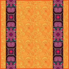 lace border stripe in ornate floral background, vector illustrat