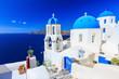 The village of Oia in Santorini, Greece