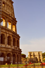 Retro look Colosseum Rome