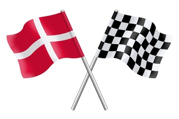 Flags: Denmark and checkerboard