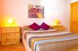 canvas print picture - Schlafzimmer im Landhausstil