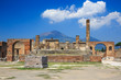 Ruins of Pompeii and volcano Mount Vesuvius, Italy - 71208987