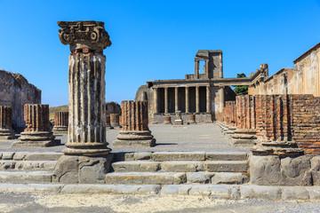 The interior of the Basilica of Pompeii, Naples Italy