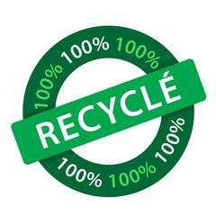 """Tampon """"100% Recyclé"""" (écologique naturel)"""