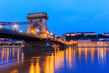 The Chain Bridge, Budapest Hungary