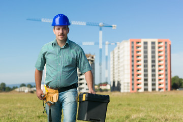 engineer on residential construction site