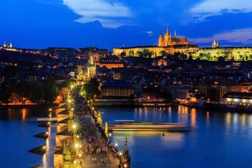 Vltava River, Charles Bridge and Prague Castle, Prague