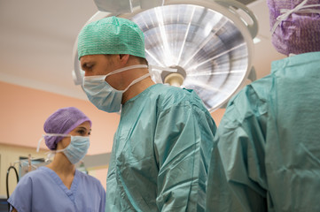 Medical team in an operating room