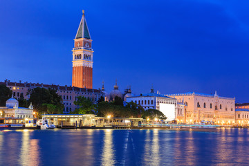Venice at twilight, Italy