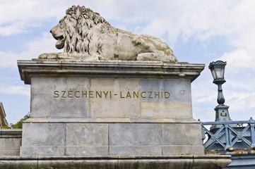 Chain Bridge at Budapest, Hungary