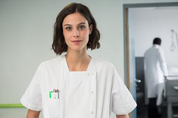 Portrait of a female nurse in hospital
