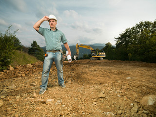 male engineer on construction site
