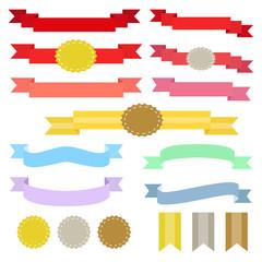 装飾リボン セット / vector eps10