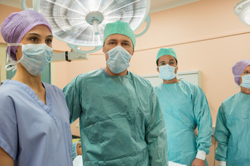 Medical professionals in an operating room
