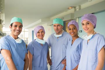 Portrait of a medical team smiling