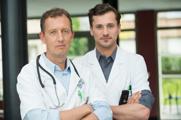 Portrait of two male doctors