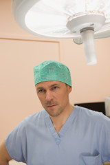 Male surgeon in an operating room