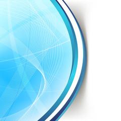 Modern blue wave swoosh line border background