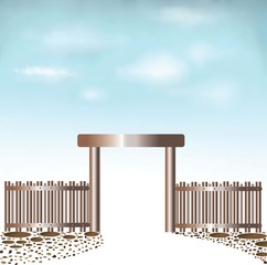 Fences Doors sky background