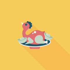 Chinese New Year flat icon with long shadow,eps10, Chinese Chick