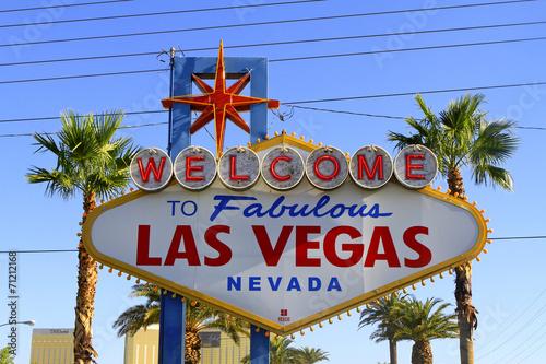 Deurstickers Las Vegas Panneau Fabulous Las vegas