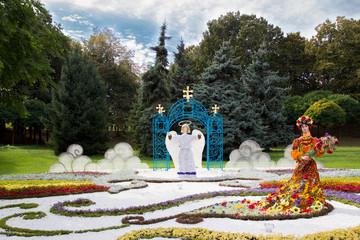 Украинская цветочная композиция