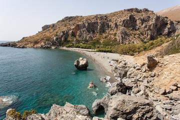 Blick von oben auf die Bucht von Preveli - Kreta - Griechenland