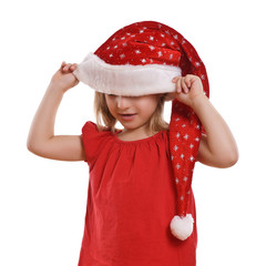 Weihnachten - Kleinkind mit Mütze