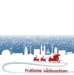 Bremen weihnachtliche Karte Klappkarte Tischkarte