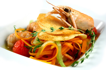 Braised royal shrimps