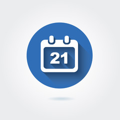 Flat icon - calendar with date. Vector