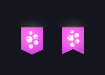 Ribbon icon set with ovules