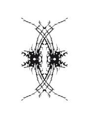 Tintenfleck Linien Form Muster