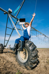 farmer on irrigation systems