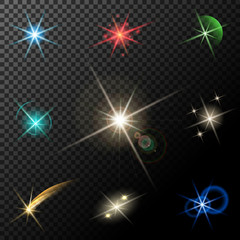 lights, stars and sparkles