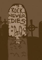 Rock tombstone vintage