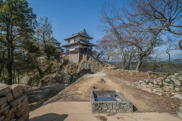 備中松山城の2重櫓と天守