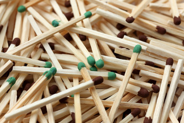 Wooden Matches Close-up