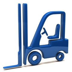 Blue lift truck icon