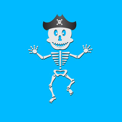 Pirate skeleton - vector illustration.