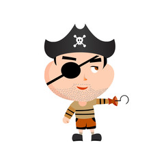 Cartoon pirate, vector